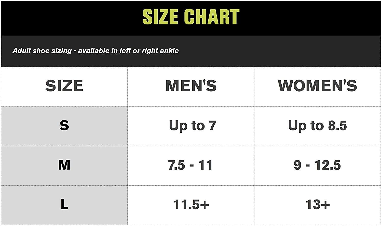 Ace Ankle Brace Size Chart