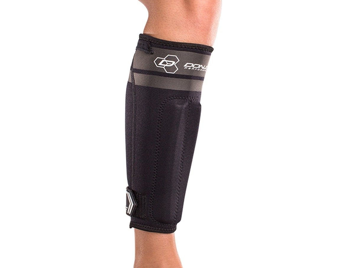 AnaForm Shin Splint Sleeve - Black - On-Skin - Front