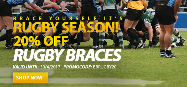 20% off rugby braces