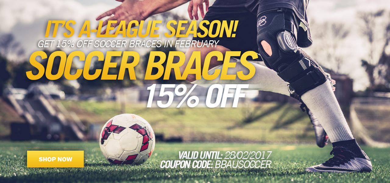 15% off soccer braces